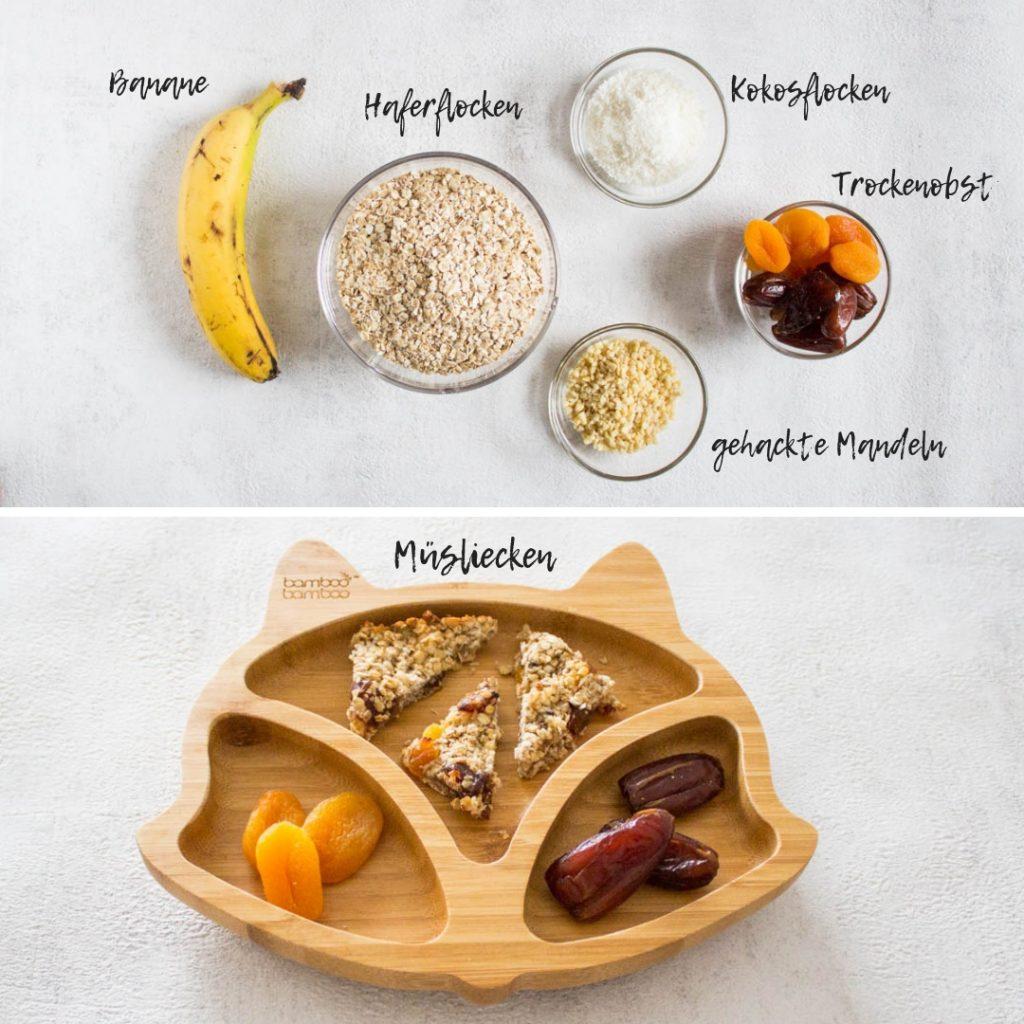 Gesunde, fruchtige Kokos-Müsliecken