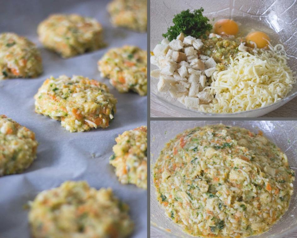 Gemüse-Kartoffel Taler mit Käse - schnell & einfach ...